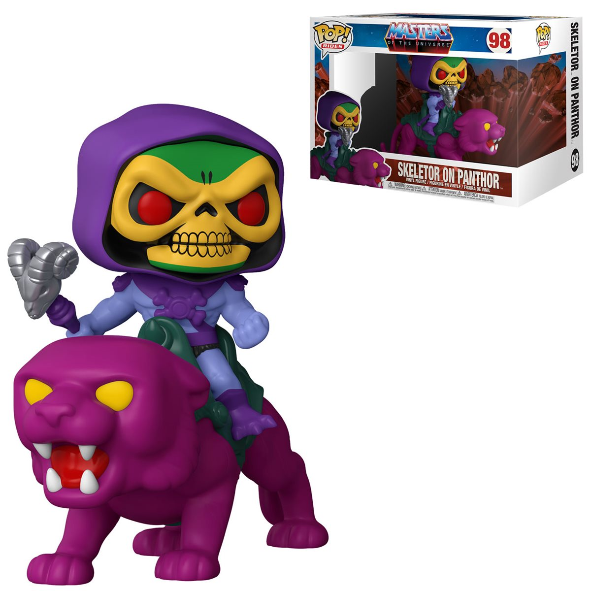 PRÉ VENDA: Funko Pop! Rides Skeletor on Panthor: Mestres do Universo (Masters of the Universe) #98  - Funko