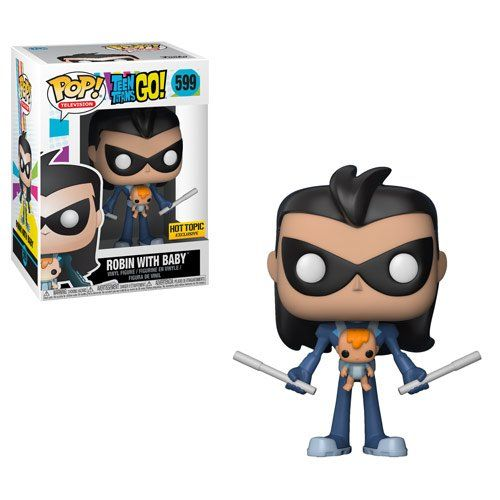 Pop! Robin With Baby: Teen Titans Go! #599 (Exclusivo) - Funko