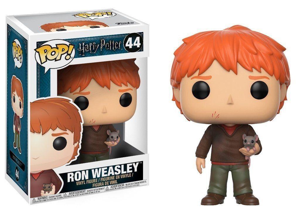 Funko Pop Ron Weasley com Rato Rabicho (Scabbers): Harry Potter #44 - Funko