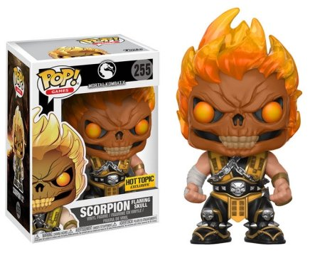Funko Pop Scorpion (Flaming Skull): Mortal Kombat X (Exclusivo) #255 - Funko