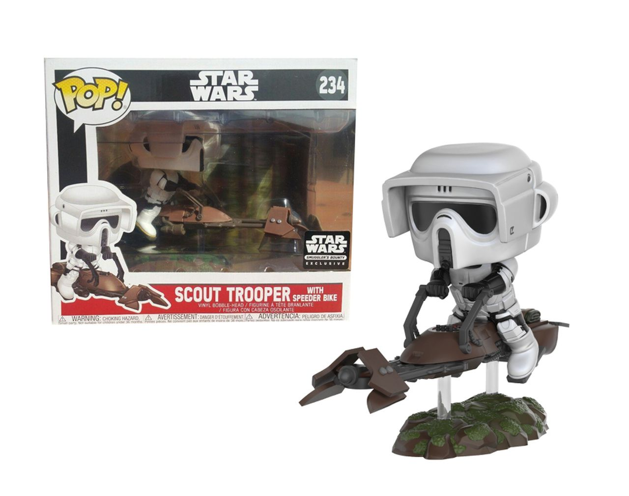 Pop! Scout Trooper (with Speeder Bike): Star Wars (Exclusivo) #234 - Funko