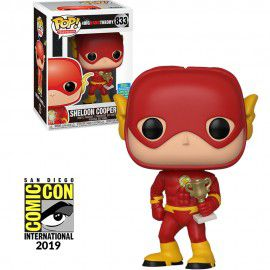 Pop! Sheldon Cooper (As Flash): Big Bang Theory (Exclusivo SDCC) #833 - Funko