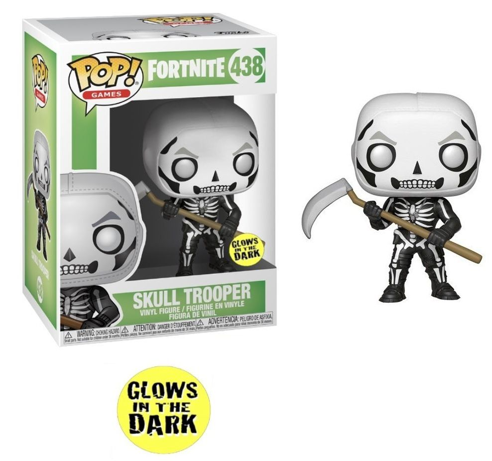 Funko Pop! Skull Trooper (GITD): Fortnite (Exclusivo) #438 - Funko