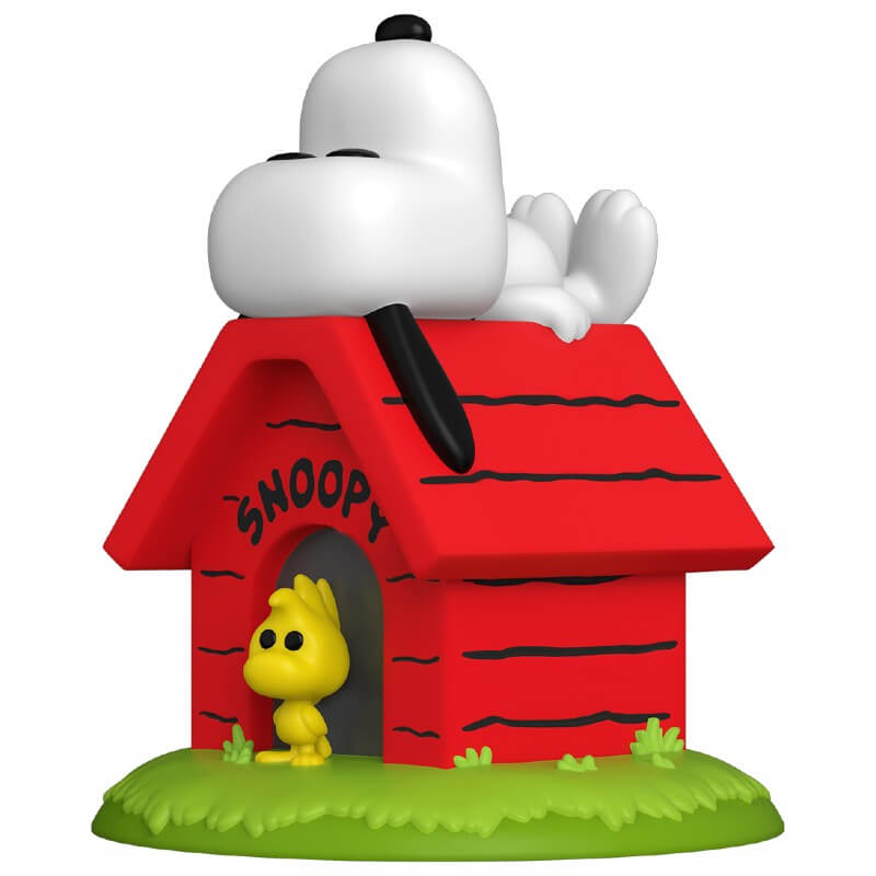 Funko  Pop! Snoopy on Doghouse with Woodstock: Peanuts: (Deluxe) #856 - Funko