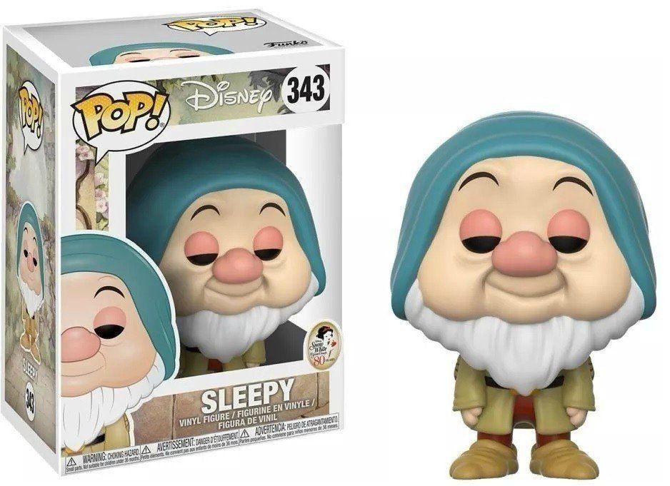 Funko Pop! Soneca (Sleepy): Branca de Neve e os Sete Anões (Disney) #343 - Funko
