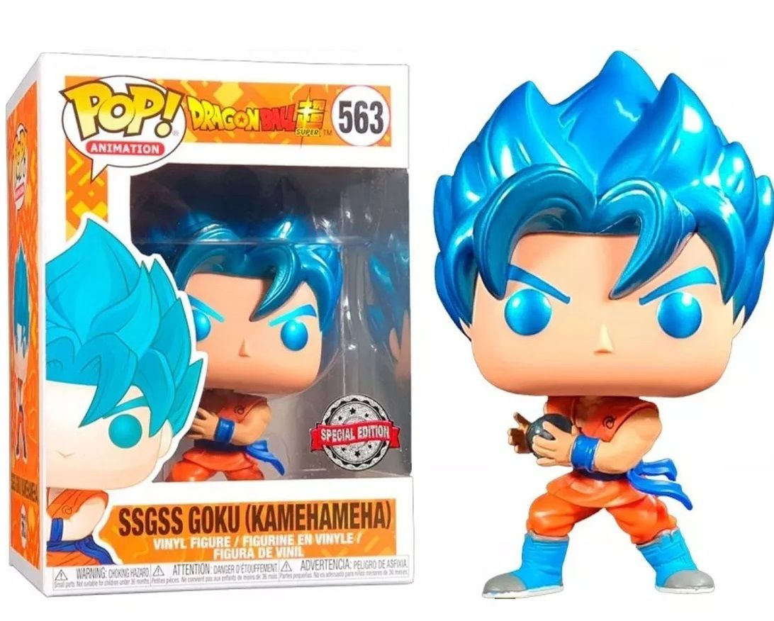 Funko Pop! SSGSS Goku (Kamehameha): Dragon Ball Z - #563 - Funko
