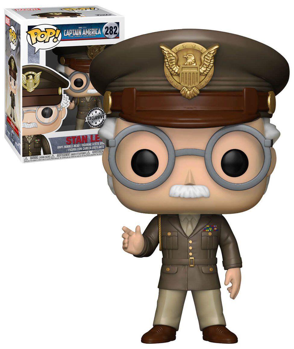 Pop! Stan Lee: Capitão América O Primeiro Vingador (The First Avenger) Exclusivo #282 - Funko