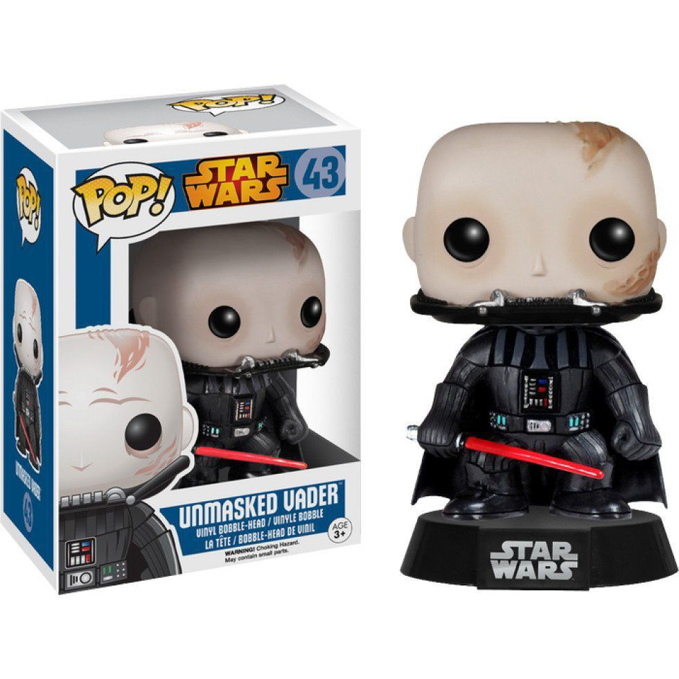 Funko Pop Darth Vader Unmasked (Sem Máscara): Star Wars #43 - Funko