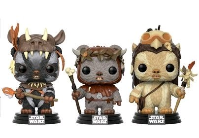 POP Star Wars: Ewok 3 Pack - Teebo, Chirpa, Logray  #3 (Exclusivo) - Funko