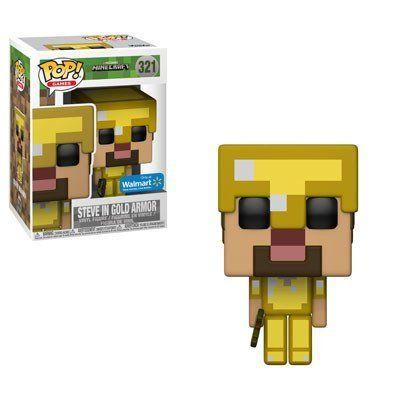 Pop! Steve In Gold Armor: Minecraft (Exclusivo) #321 - Funko