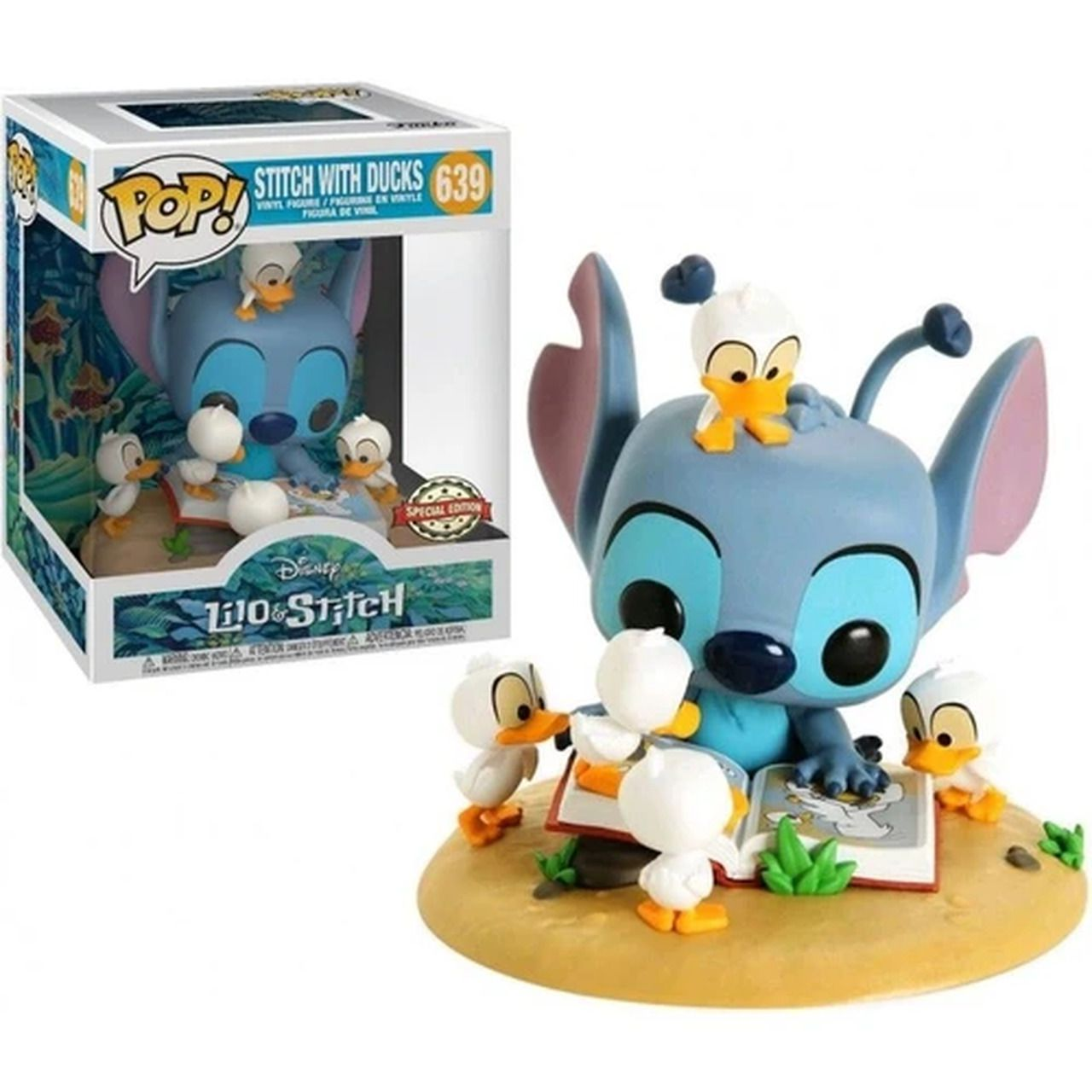 Pop! Stitch com os Patinhos (With Ducks): Lilo & Stitch (Exclusivo) #639 - Funko
