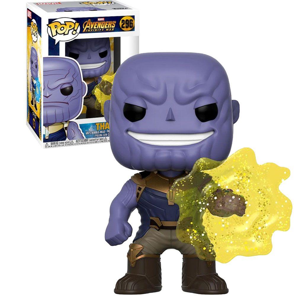 Pop! Thanos (Mind Stone): Vingadores Guerra Infinita (Avengers Infinity War) (Exclusivo) #296 - Funko