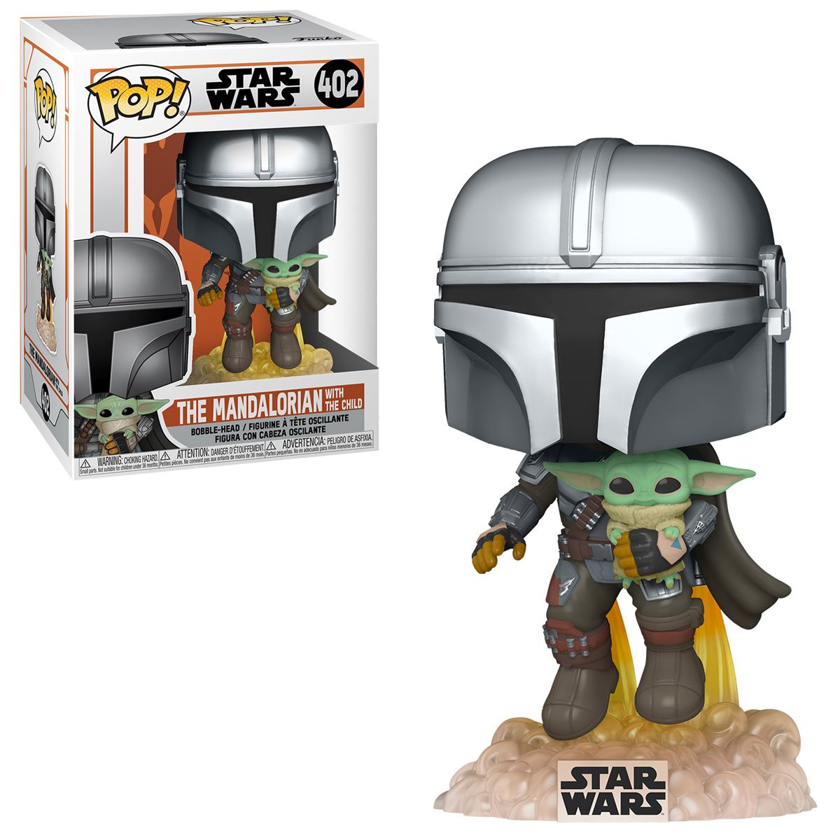 PRÉ VENDA: Funko Pop! The Mandalorian Flying: The Mandalorian ( Star Wars )  #402 - Funko