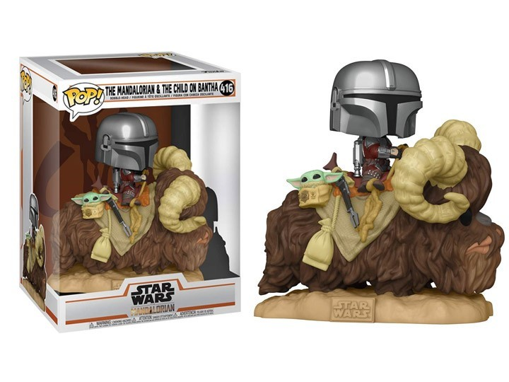 PRÉ VENDA: Funko Pop! The Mandalorian & The Child on Bantha: The Mandalorian - Star Wars (Deluxe) #416 - Funko