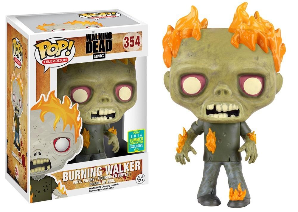 POP! The Walking Dead - Fire Zombie SDCC