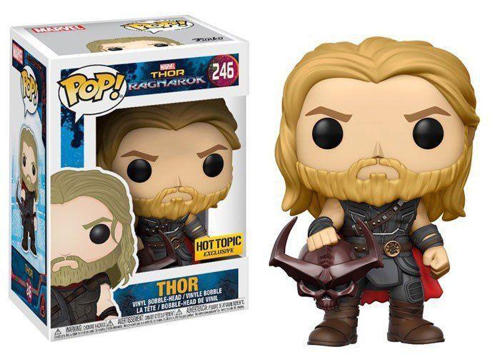 Funko Pop Thor com Cabeça de Surtur (Surtur Head): Thor Ragnarok (Exclusivo) #246 - Funko