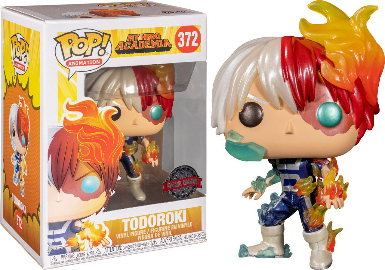 Pop! Todoroki (Metallic): Boku no Hero Academia (My Hero Academia) Exclusivo #372 - Funko