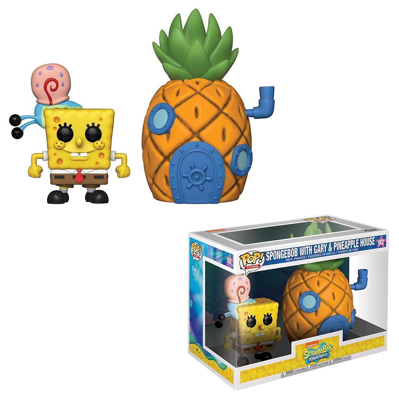 Funko Pop! Town Bob Esponja (Spongebob With Gary & Pineapple House): Bob Esponja Calça-Quadrada  #02 - Funko