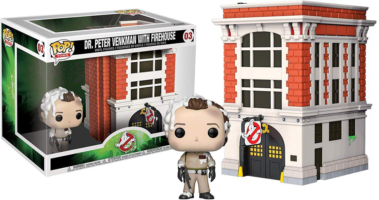 Funko Pop! Town Dr. Peter Venkman (With Firehouse): Os Caça-Fantasmas (Ghostbusters) #03 - Funko