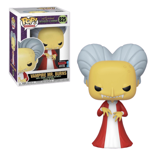 Funko Pop! Vampire Mr. Burns: The Simpsons (Treehouse of Horror) Exclusivo NYCC #825 - Funko