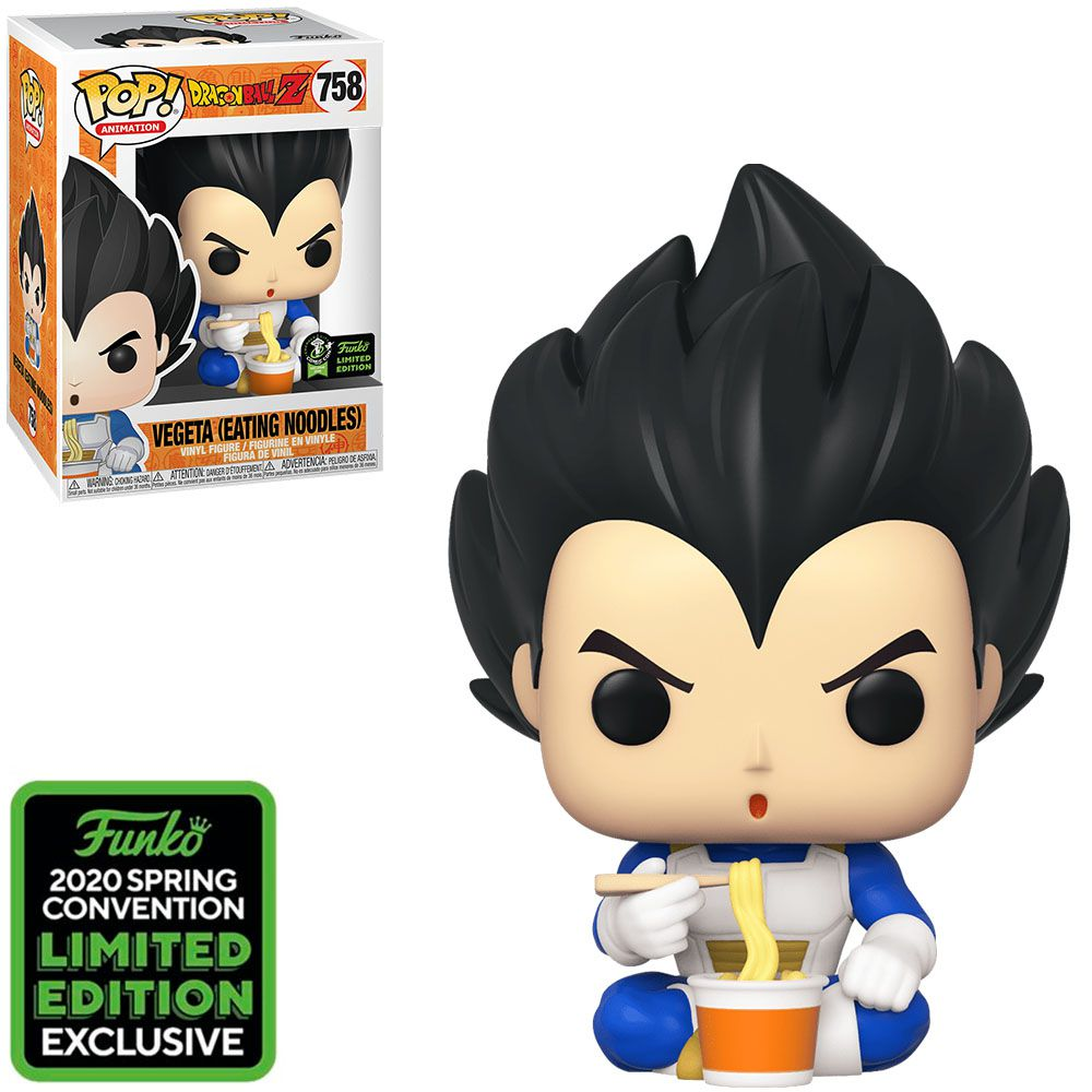 Pop! Vegeta (Eating Noodles): Dragon Ball Z (Exclusivo) #758 - Funko
