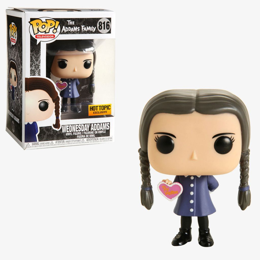 Funko Pop! Wednesday Addams (Valentine): A Família Addams (The Addams Family) Exclusivo #816 - Funko