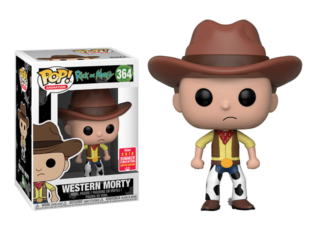 Pop! Western Morty: Rick and Morty (Exclusivo SDCC 2018) #364 - Funko