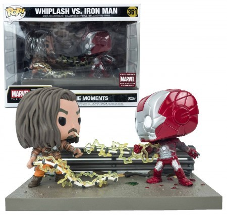 "Funko Pop! Whiplash Vs. Iron Man ""Chicote Negro vs Homem de Ferro"": Homem de Ferro 2 ""Iron Man 2"" (Movie Moments) #361 - Funko"