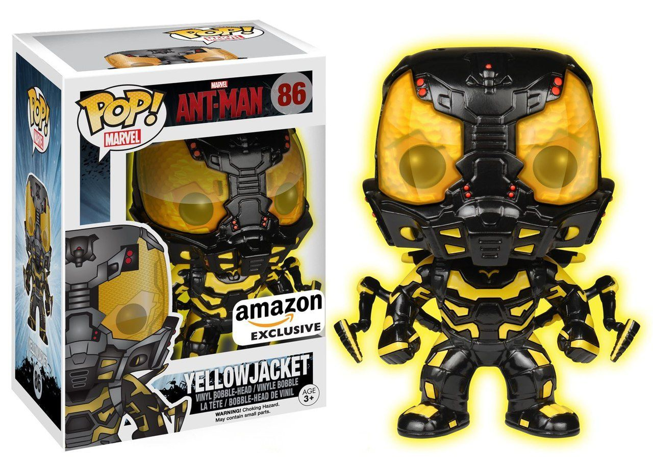 Pop! Yellow Jacket: Homem-Formiga (Ant-Man) Marvel (Glow In The Dark) #86 - Funko
