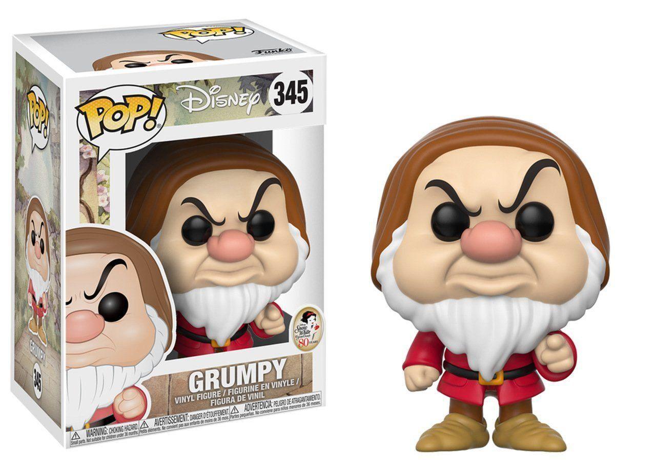Funko Pop Zangado (Grumpy): Branca de Neve e os Sete Anões (Disney) #345 - Funko