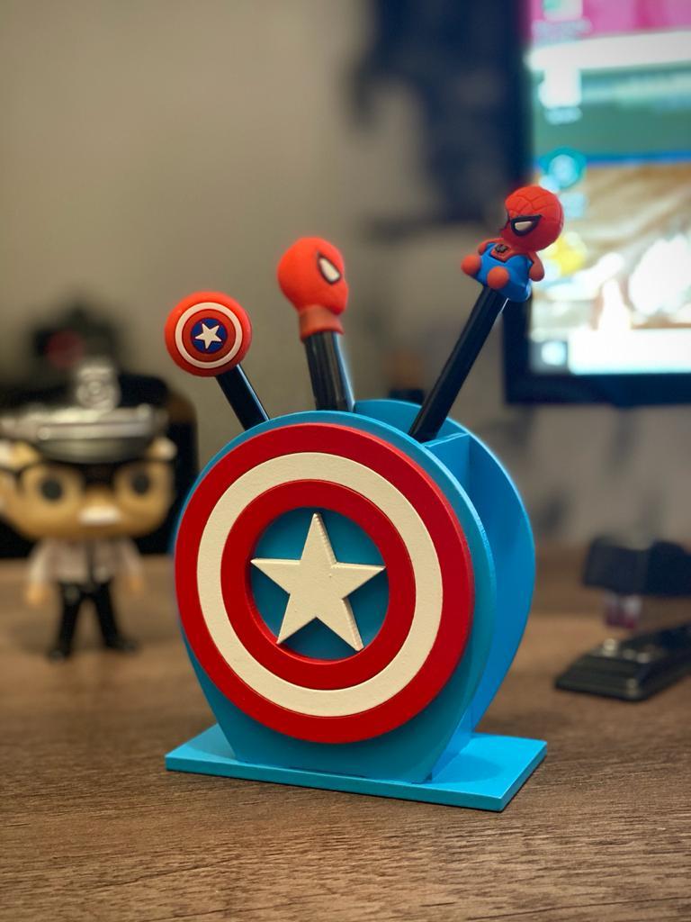 Porta Caneta: Capitão America (Captain America)