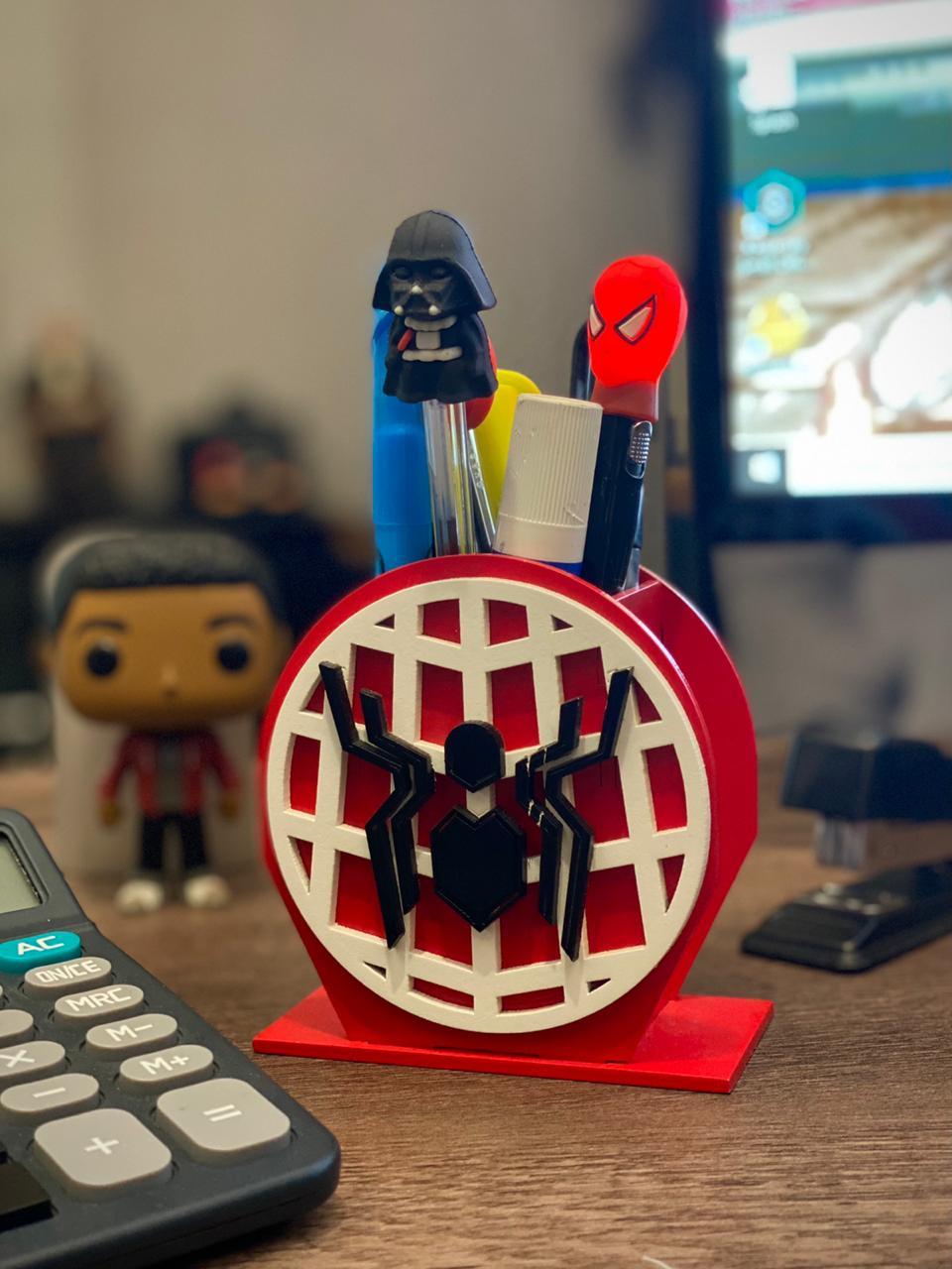 Porta Canetas: Homem Aranha (Spider Man) - Geton