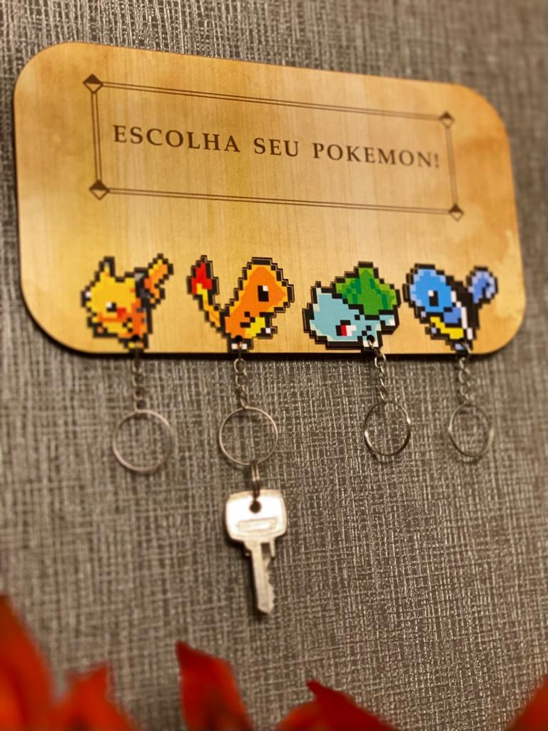 Porta Chave: Escolha Seu Pokemon! (Pokemon)