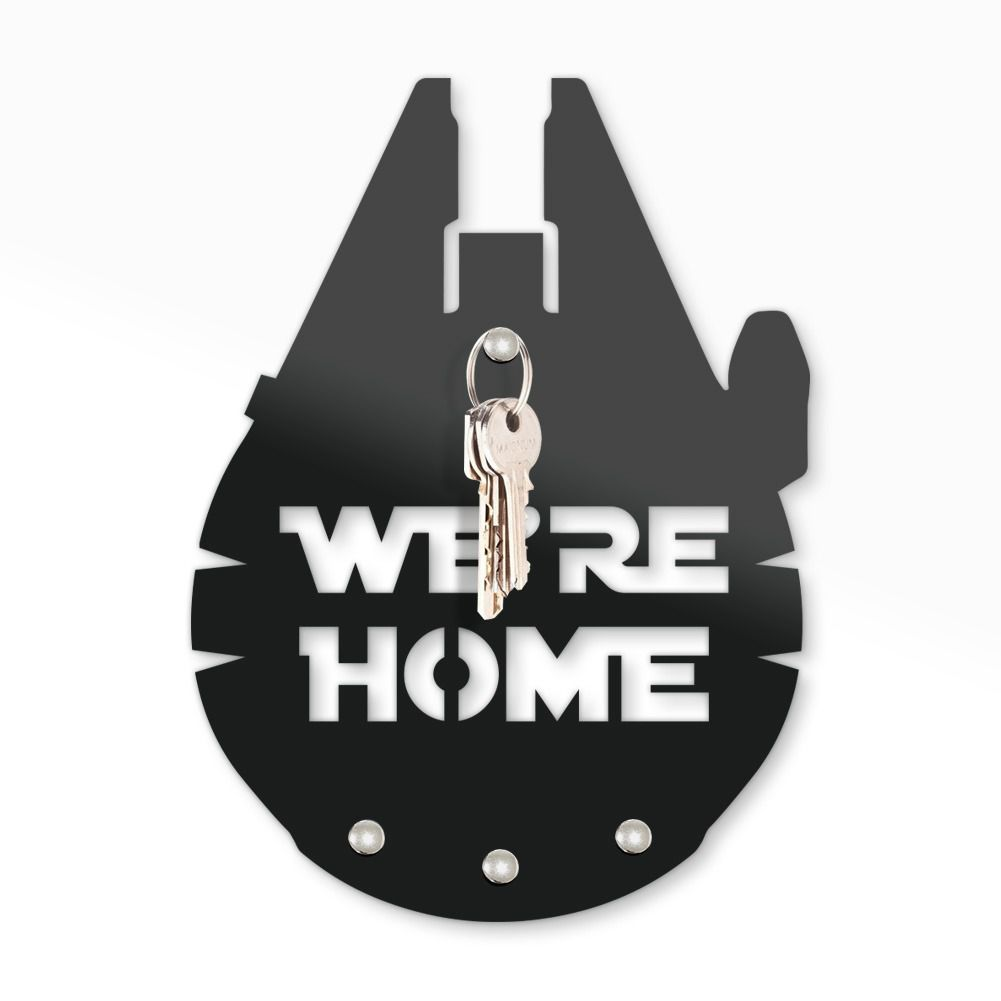 Porta Chave Star Wars: Millenium Falcon Wer Re Home