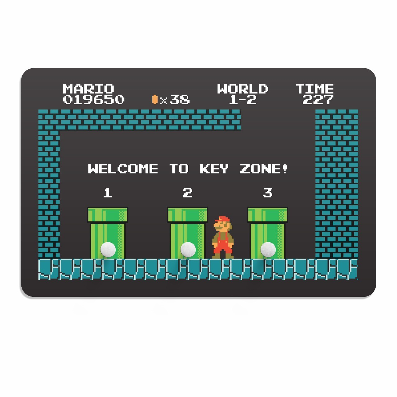 "Porta Chave: "" Welcome to Key Zone '' - Mario Bros"