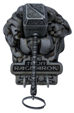 Porta Chaves e Chaveiro Martelo do Thor (Mjolnir): Thor Ragnarok