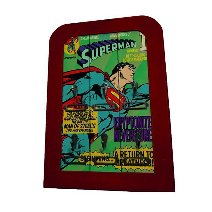 Porta Chaves Madeira 6 Hooks Dc Comics - Urban