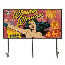 Porta Chaves Wonder Woman Cover Page Rosa - Urban