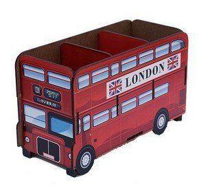 Porta Controle Remoto: Ônibus Inglês