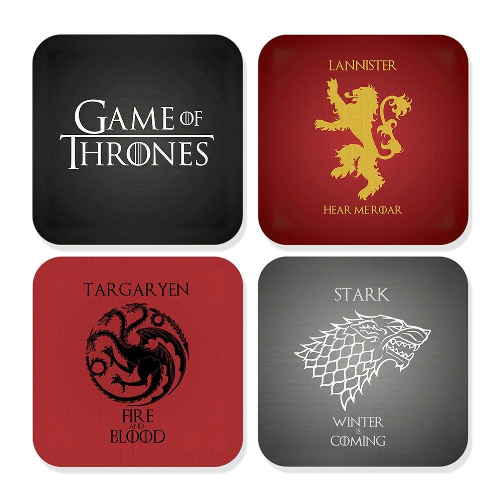 Porta Copos Casas: Game Of Thrones (Set com 4) - Fábrica Geek