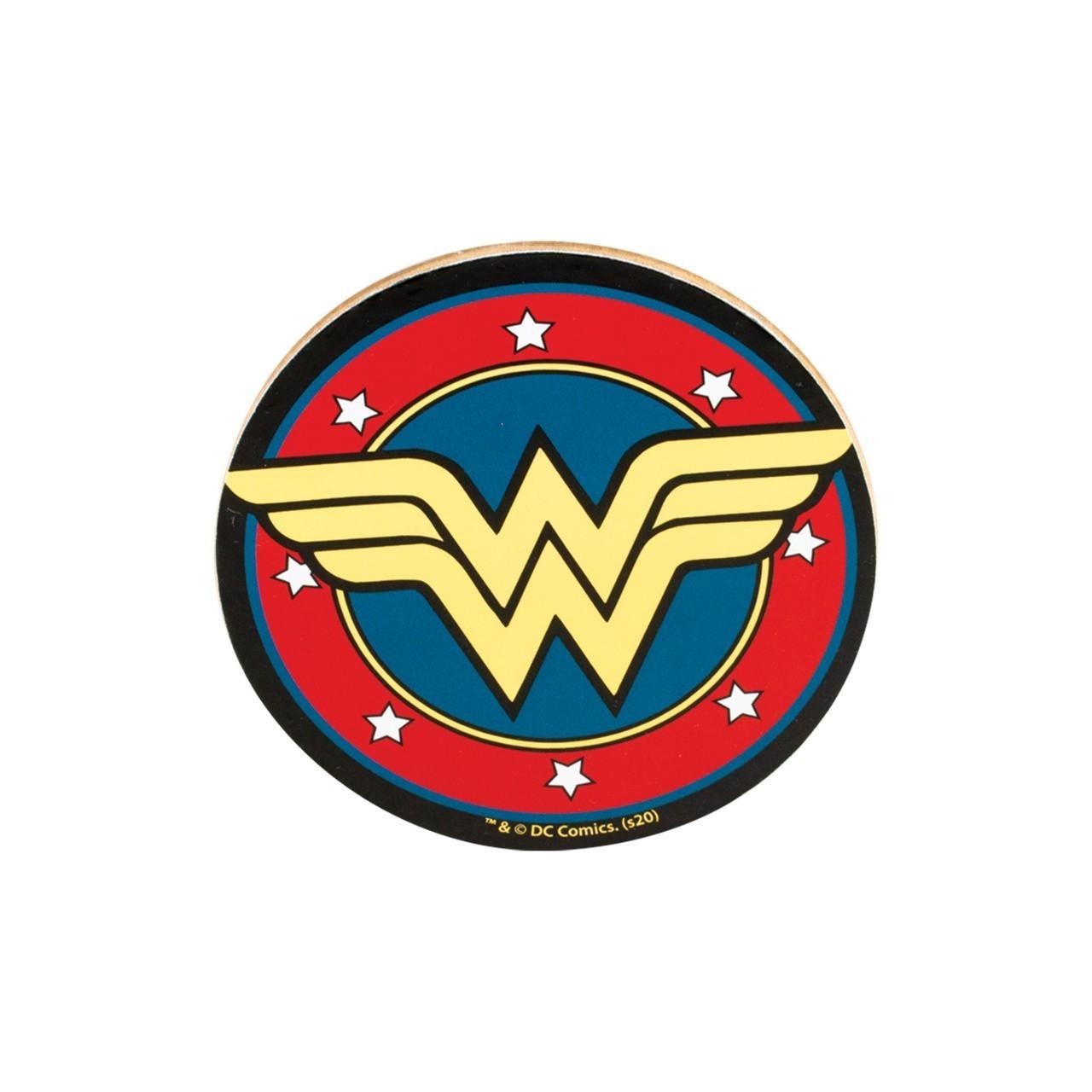 Porta Copos de Cortiça: Logo Mulher Maravilha (Set com 6)