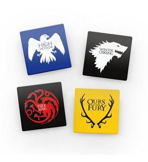 Porta Copos Game Of Thrones (Casas): 4 Peças - Fabrica Geek