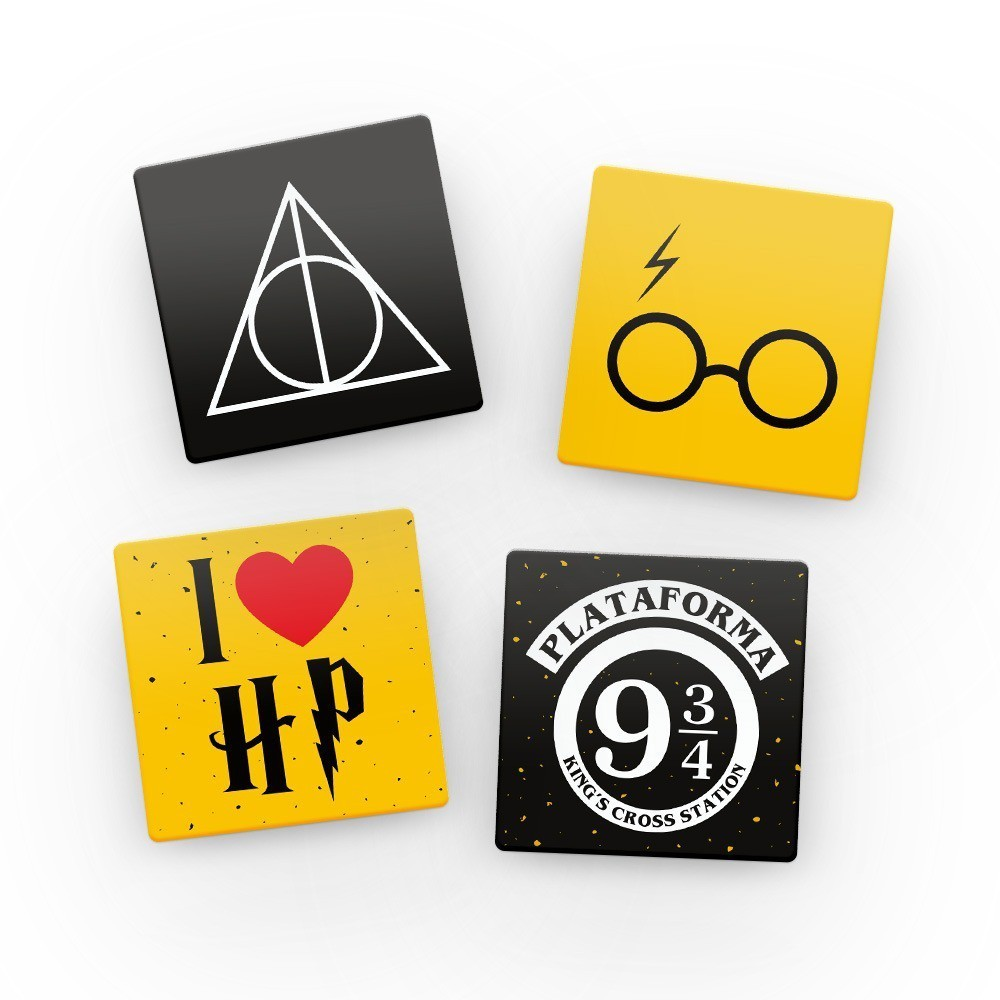 Porta Copos Harry Potter (Set com 4)