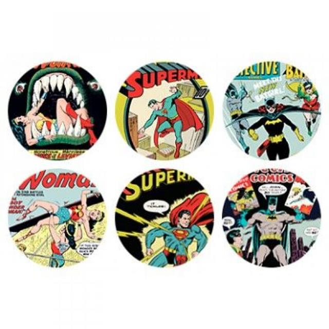 Porta Copos MDF Colorido - Dc Comics