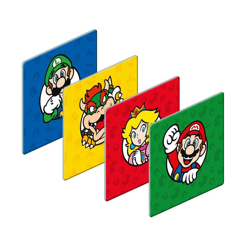 Porta Copos Personagens: Super Mario Bros (Set com 4)