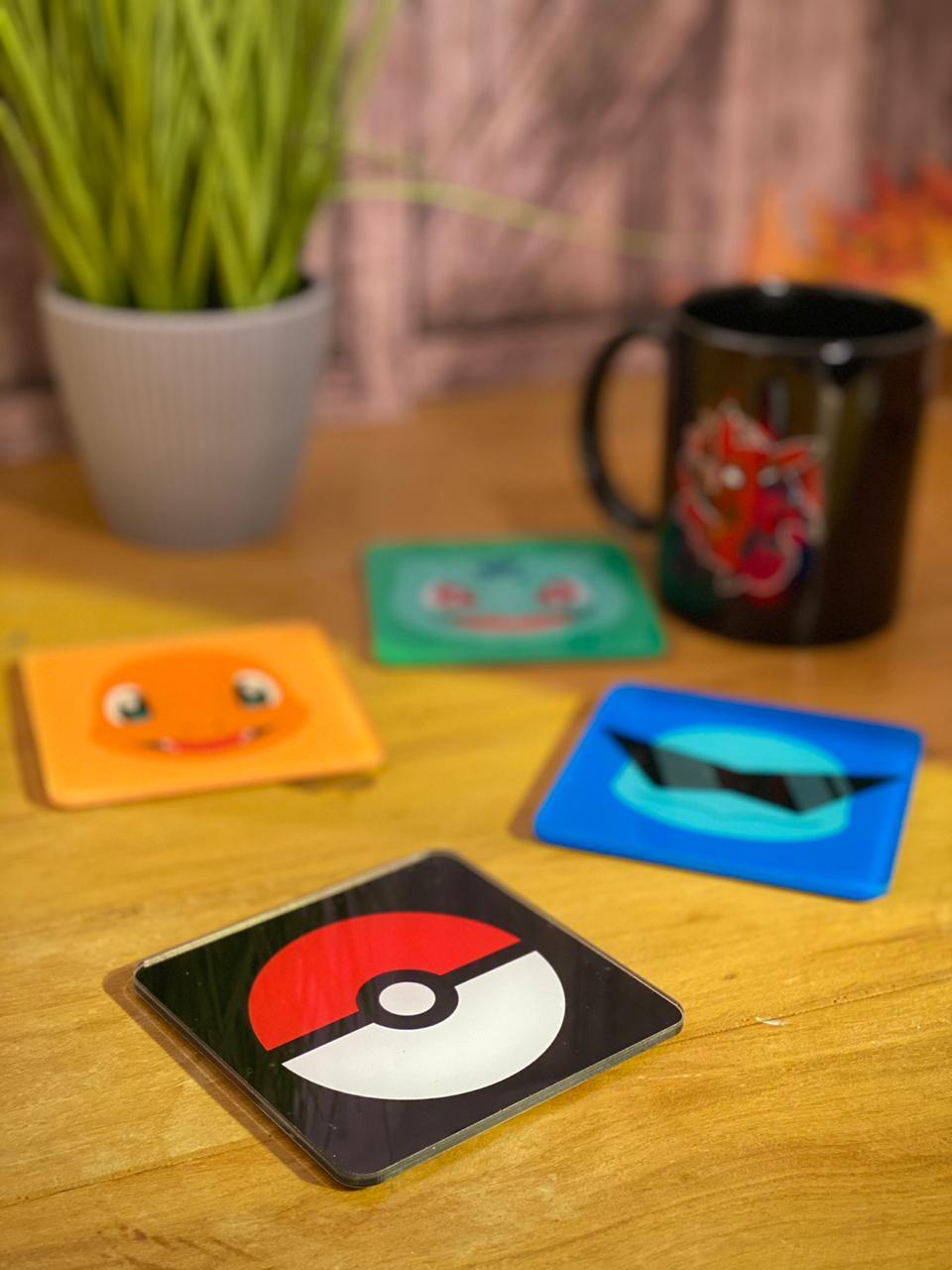 Porta Copos Pokémon (Set com 4)