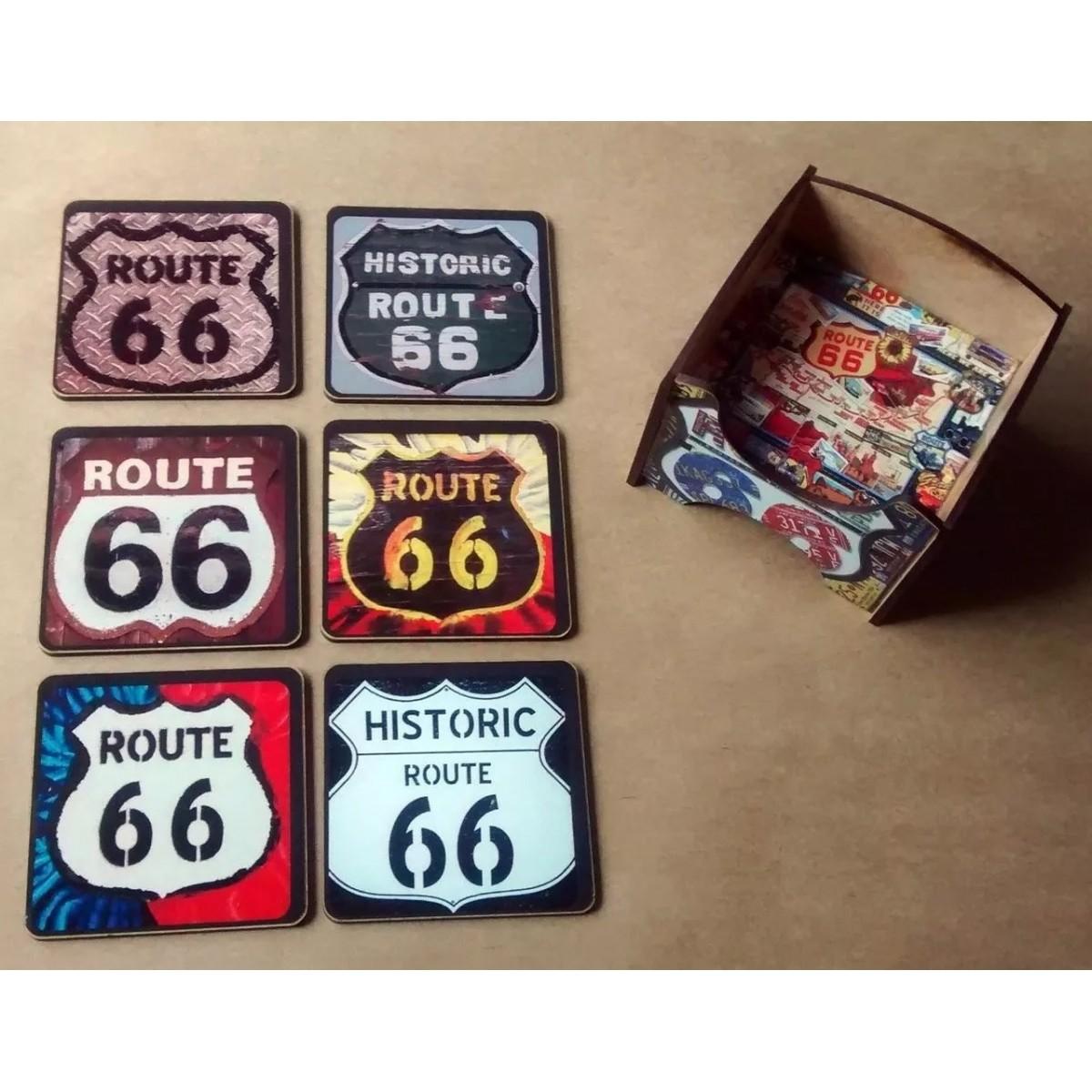 Porta Copos Route 66 Pequena