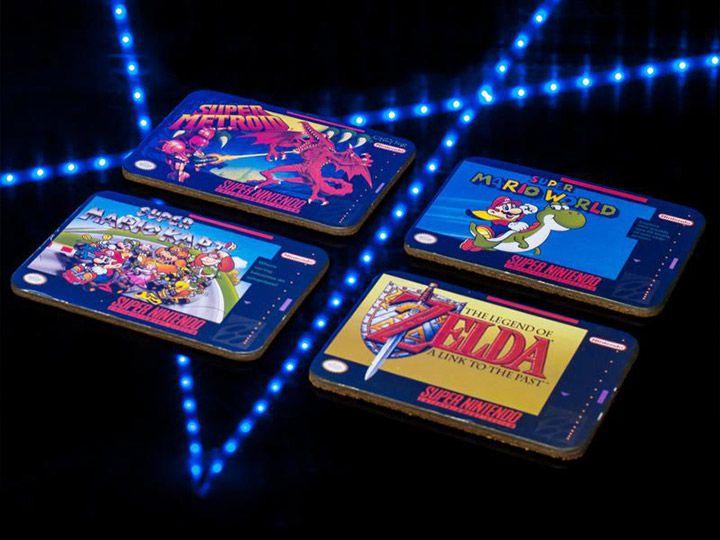 Porta Copos Super Nintendo: Nintendo (Set com 4)