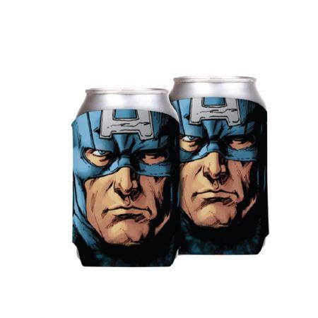 Porta Latas Capitão América - Marvel