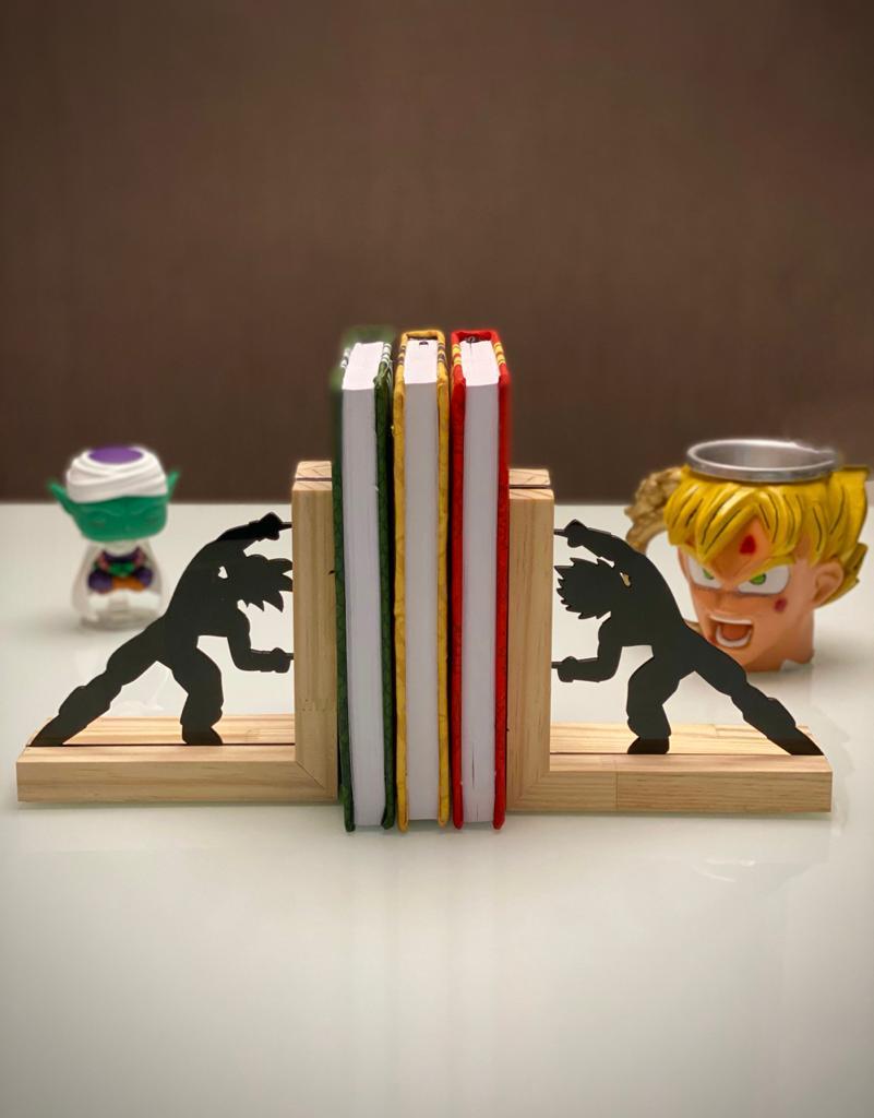Porta Livro / Aparador de Livros Goku e Vegeta Fusão: Dragon Ball Z - EV